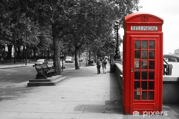 London Telephone Booth Pixerstick Sticker - Styles