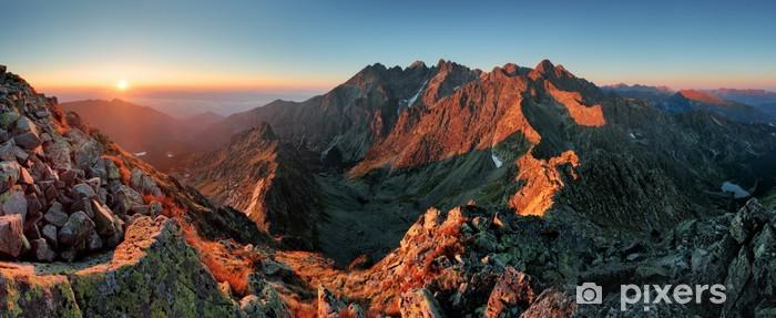 Fototapeta winylowa Panorama górska krajobraz jesienią - Tematy