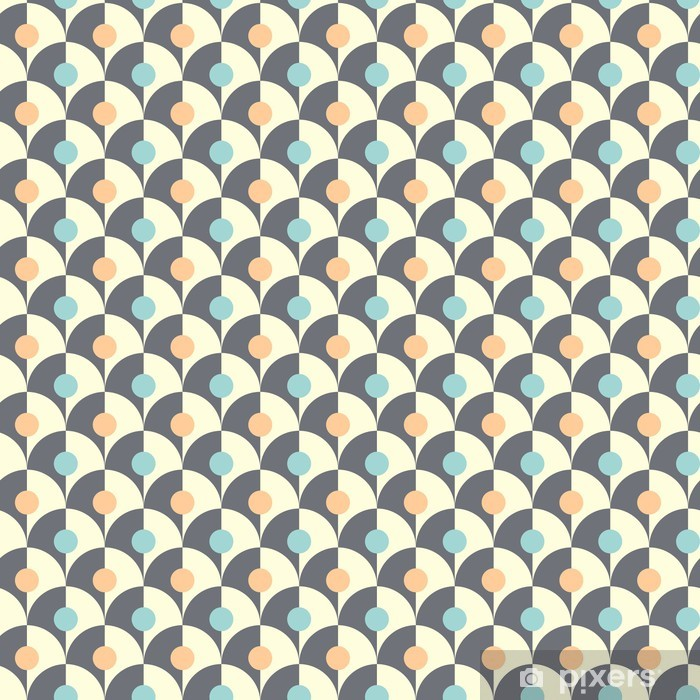 Seamless simple retro geometrical pattern of classic style Pixerstick Sticker - Backgrounds