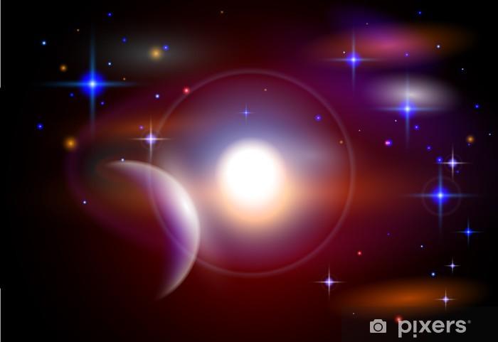 Fotomural Estándar Espacio Mágico - planetas, estrellas, constelaciones, nebulosas - Espacio exterior