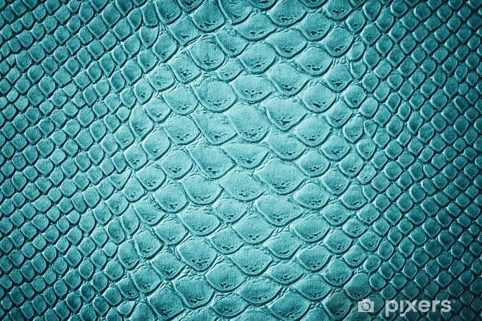 Naklejka na stolik Lack Krokodyl skóry tekstury turkusowe - Zwierzęta