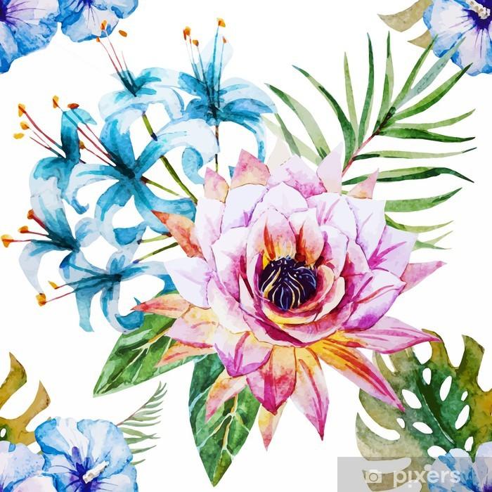 Tropical pattern Pixerstick Sticker - Flowers