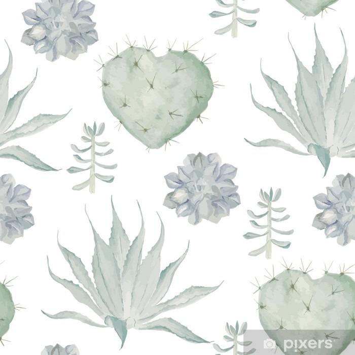 Papier Peint Aquarelle Cactus Impression Seamless Pixers Nous