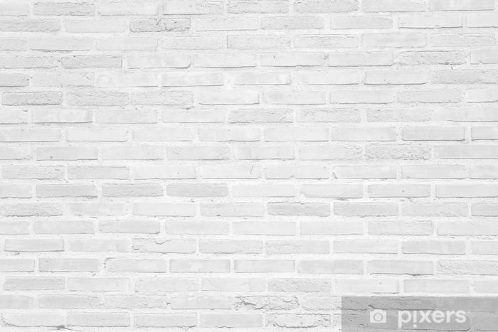 Vinilo Pixerstick Grunge pared de ladrillo blanco textura de fondo - Temas