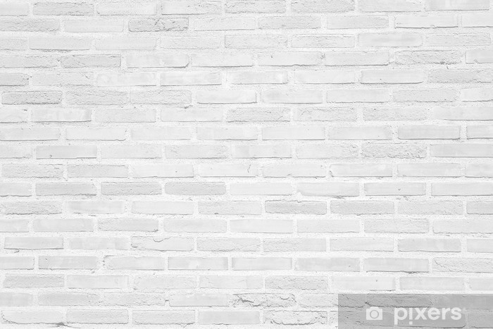 White grunge brick wall texture background Washable Wall Mural - Themes