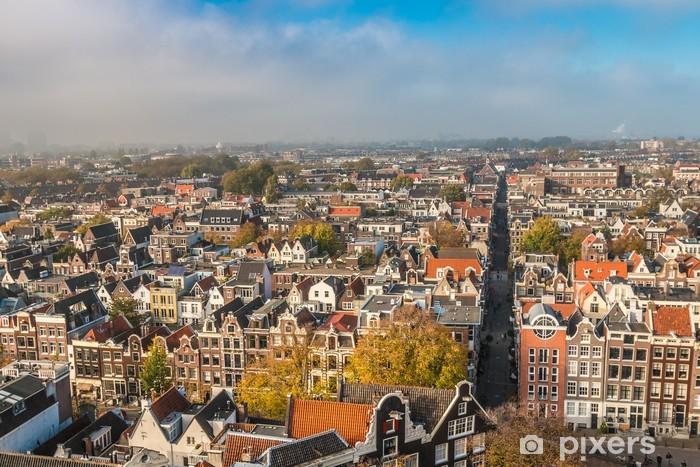 Naklejka Pixerstick Widok z Amsterdamu - Miasta europejskie