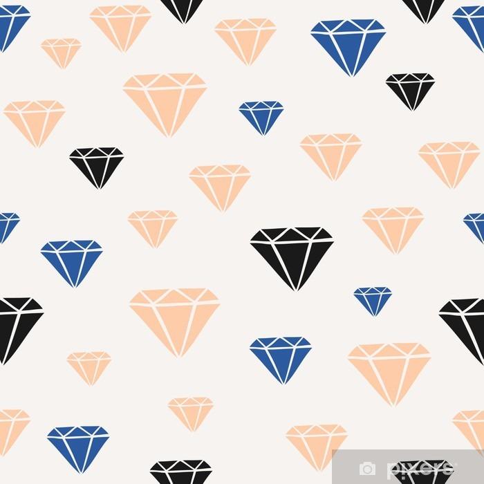 Skåpdekor Diamond Shapes sömlösa mönster - Grafiska resurser