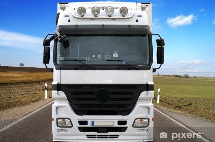 Papier peint vinyle Camions sur la route - Industrie lourde