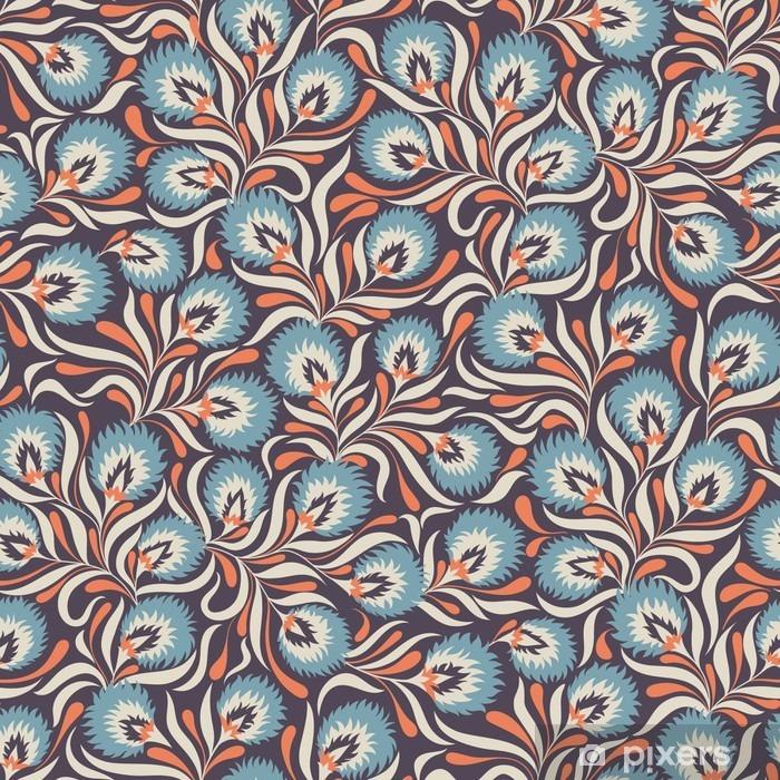 Mural de Parede Lavável Floral pattern - Plantas e Flores