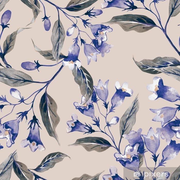 Papier peint vinyle Motif weigelas Fleur Seamless - Plantes et fleurs
