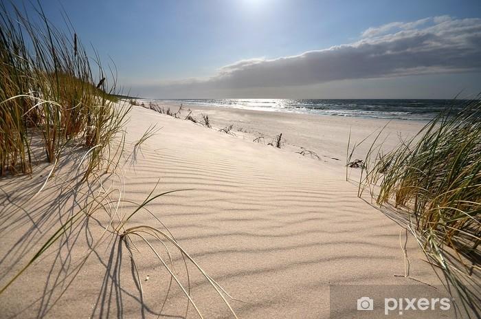 Vinilo Pixerstick Mrzeżyno, plaża - Paisajes