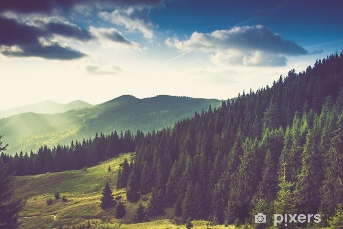 Pixerstick Sticker Prachtige zomer berglandschap. - Landschappen