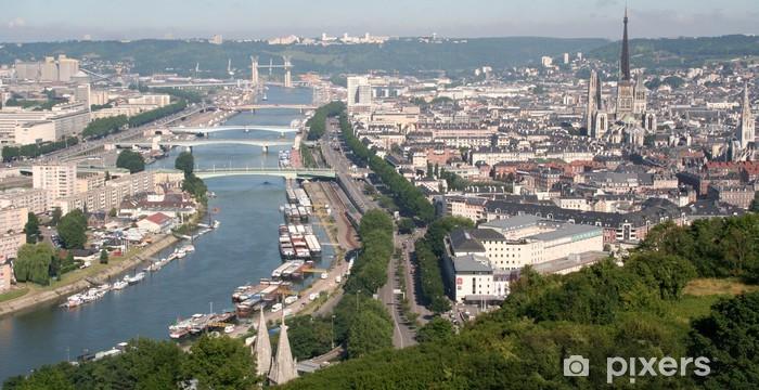 Sticker Pixerstick Panoramique de la Seine à Rouen - Vacances