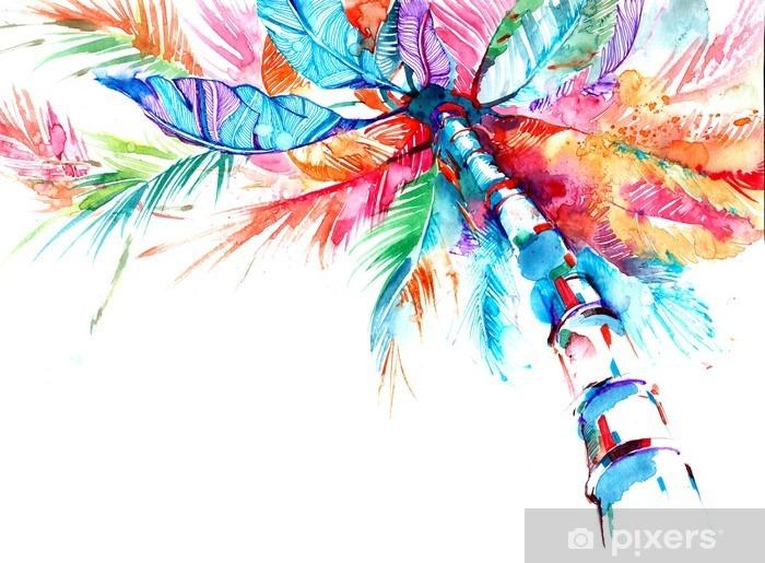 Pixerstick Sticker Palm - Bloemen en Planten
