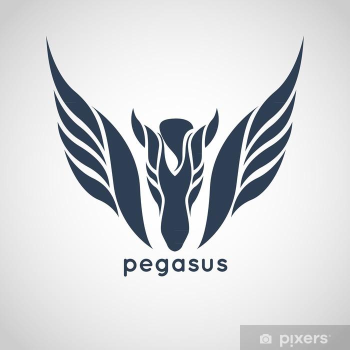 Fototapeta winylowa Pegasus wektor logo - Fikcyjne zwierzęta