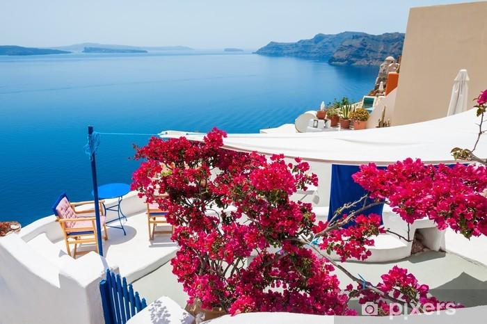 Nálepka Pixerstick Bílá architektura na ostrově Santorini, Řecko - Prázdniny
