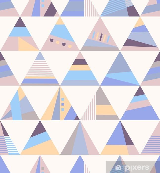 Nálepka Pixerstick Geometrické retro seamless pattern - Grafické zdroje