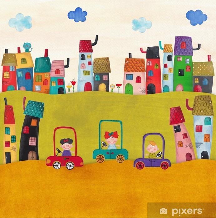 Carta da Parati in Vinile Illustrazione per bambini - Panorami
