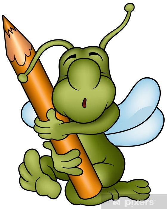Fototapete Bug Und Bleistift Cartoon Illustration Pixers Wir