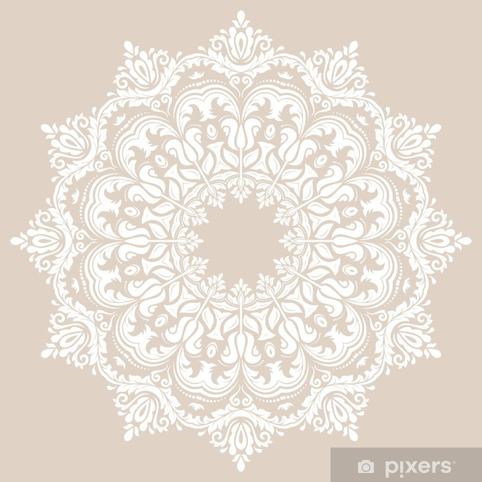 Damask Vector Orient Pattern Wall Mural Pixers
