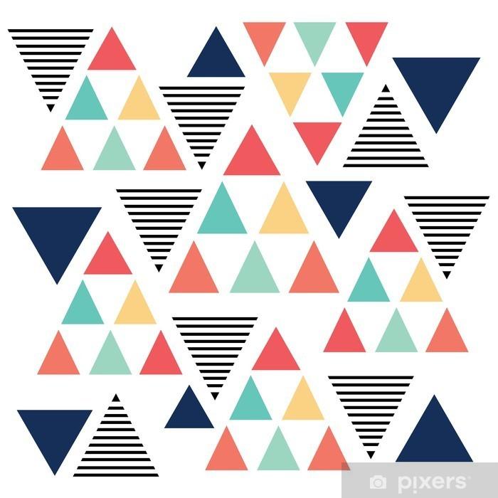 Bureau- en Tafelsticker Driehoekspatroon kleurvariatie - Grafische Bronnen
