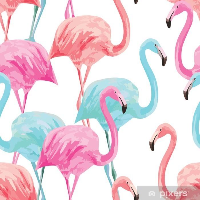 Fototapeta samoprzylepna Flamingo akwarela wzór - Zwierzęta