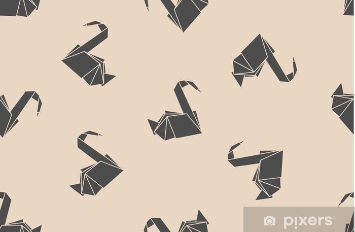 Fototapete Nahtlose Muster Japanisches Papier Origami Kraniche Kann Für Die Webseite Hintergründe Oberflächenstrukturen Hintergrund Auf