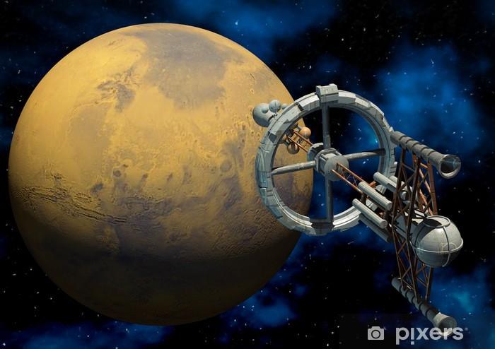 Naklejka Pixerstick Marzec załogowej misji - Planety