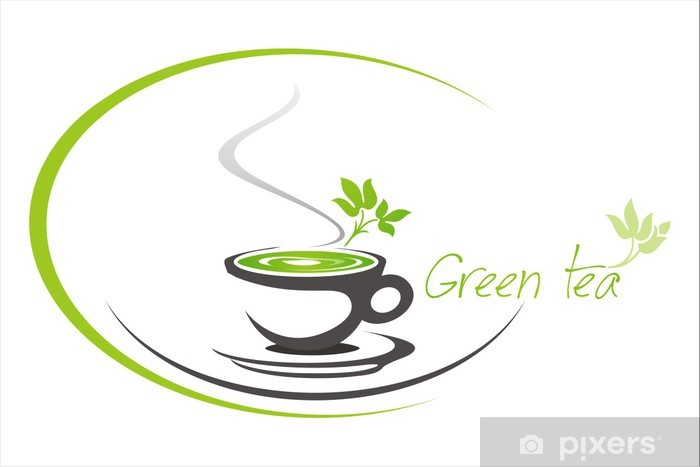 Green Tea Tea Leaves Business Logo Design Wall Mural Pixers We Live To Change