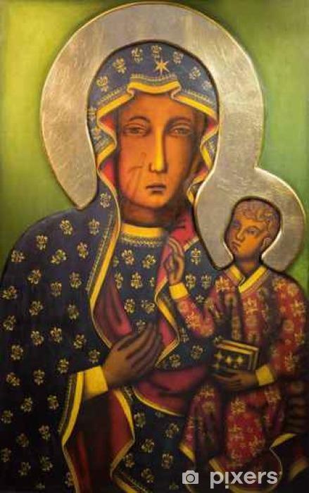 Pixerstick-klistremerke Tel Aviv - Ikon av svart Madonna fra St. Peters kirke - Bygg og Arkitektur