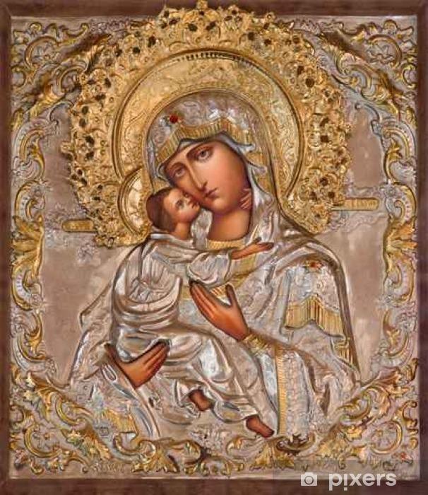 Pixerstick Sticker Jeruzalem - Madonna in de Russisch-orthodoxe kerk van Maria van Magdalena - Gebouwen en Architectuur