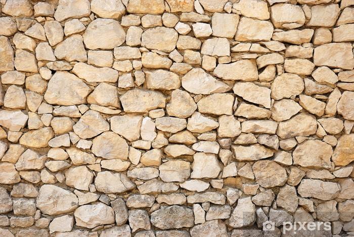 Fotomural Estándar Pared piedra textura - Texturas