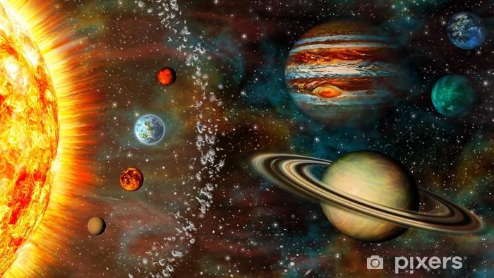 Papier peint vinyle Solar System 3D Widescreen - Planètes