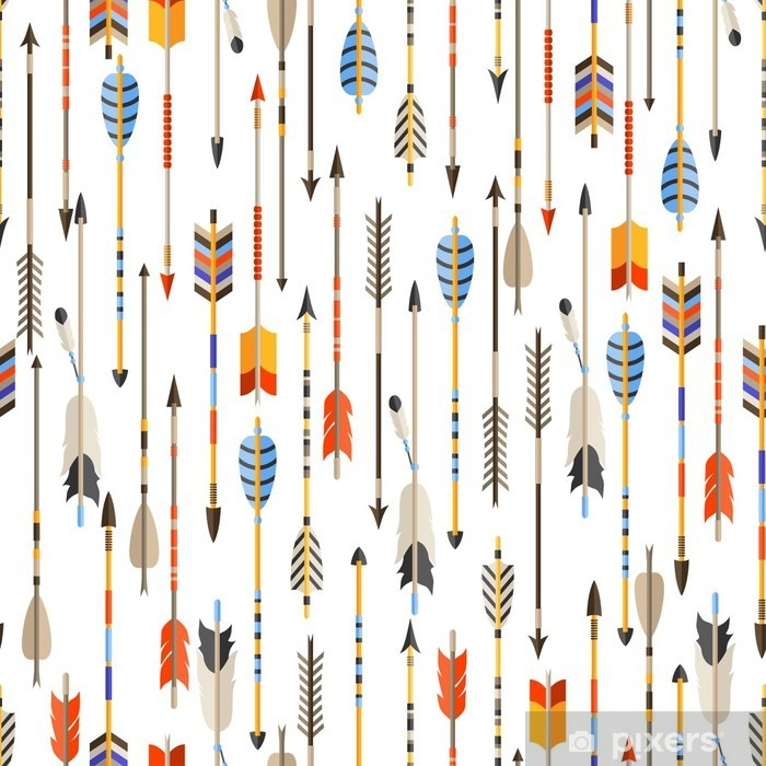 Ethnic seamless pattern with indian arrows in native style Vinyl Wall Mural - Travel
