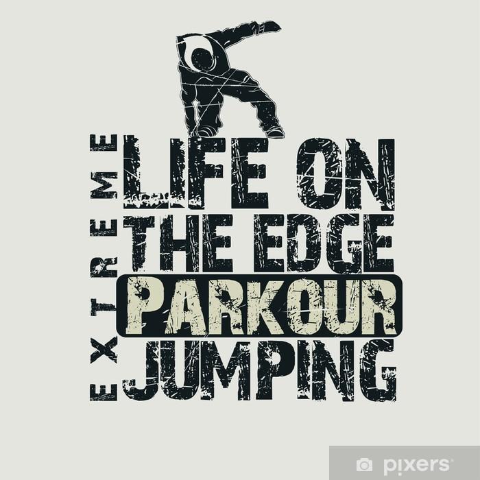 Fotomural Estándar Concepto parkour camiseta - Deportes extremos