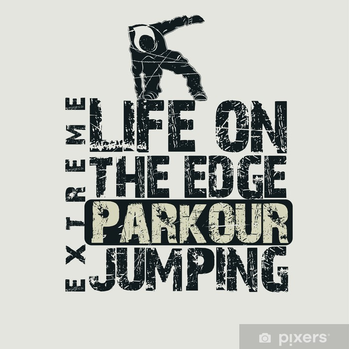 Parkour concept t-shirt Vinyl Wall Mural - Extreme Sports