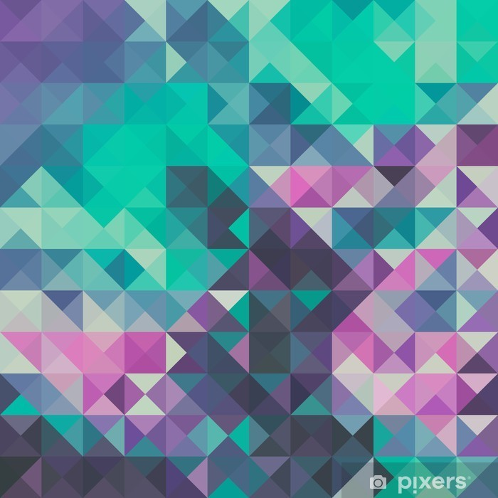 Pixerstick Sticker Driehoek achtergrond, groen en violet - Grafische Bronnen