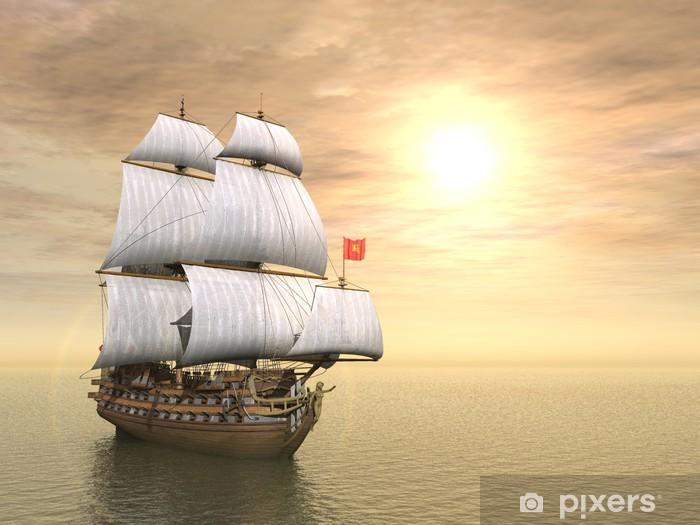 Çıkartması Pixerstick Korsan gemisi - Suyolu