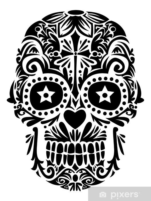 Santa Muerte Sticker Pixers We Live To Change