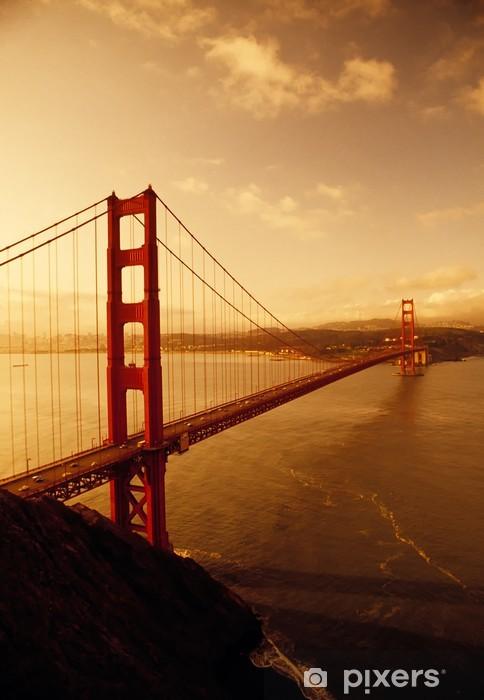 Vinil Duvar Resmi Golden Gate Köprüsü, San Francisco, Kaliforniya -