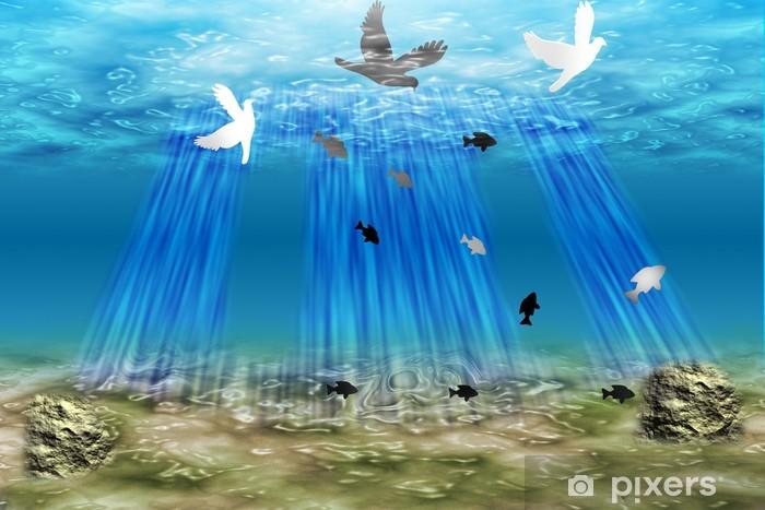 Naklejka Pixerstick Fond marin - Woda