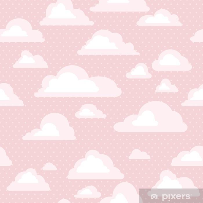Nálepka Pixerstick Bezešvé vzorek s mraky - Grafika