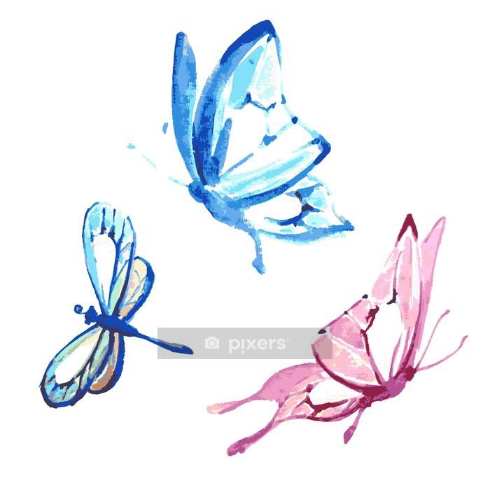 Naklejka na ścianę Butterfly, akwarela projektowania - Inne Inne