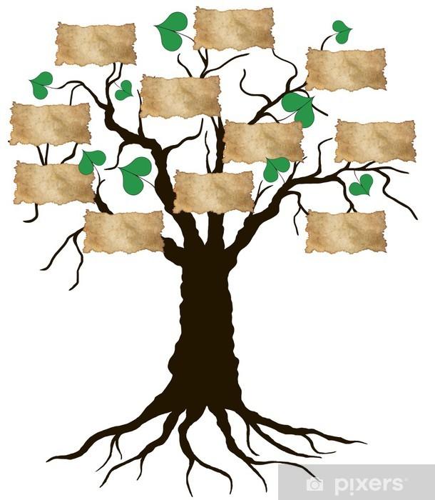 Naklejka Pixerstick Drzewo genealogiczne - Życie