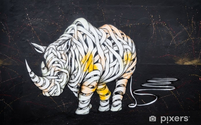Fototapeta winylowa Tag nosorożca - Hobby i rozrywka
