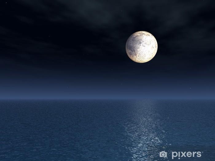 Carta Da Parati Luna Piena Sul Mare Pixers Viviamo Per Il