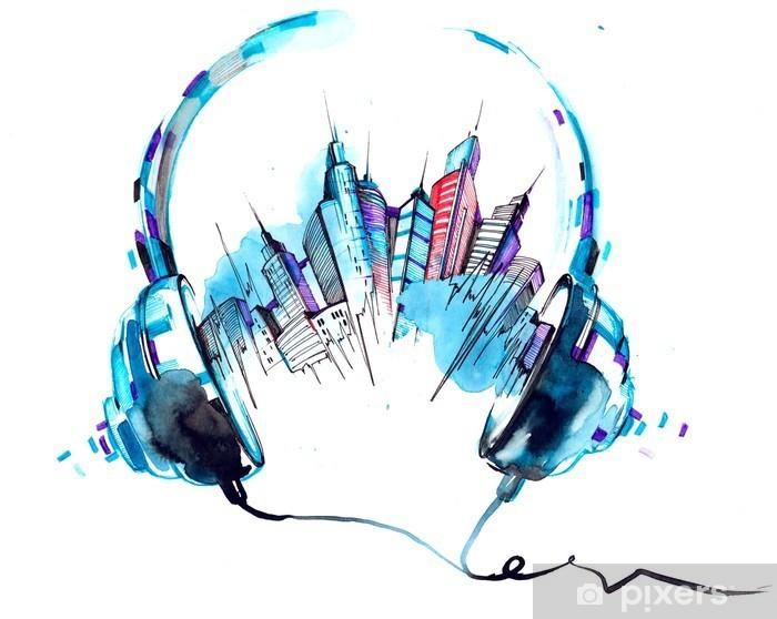 Nálepka Pixerstick Zvuky města - Koníčky a volný čas