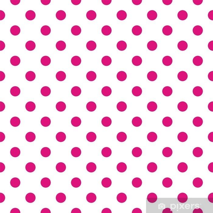 Carta Da Parati Modello Vettoriale Delle Mattonelle Con Pois Rosa Su