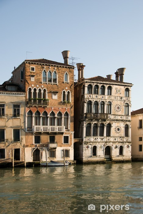 Two beautiful palaces in the Grand Canal, Venice, Italy Vinyl Wall Mural - European Cities
