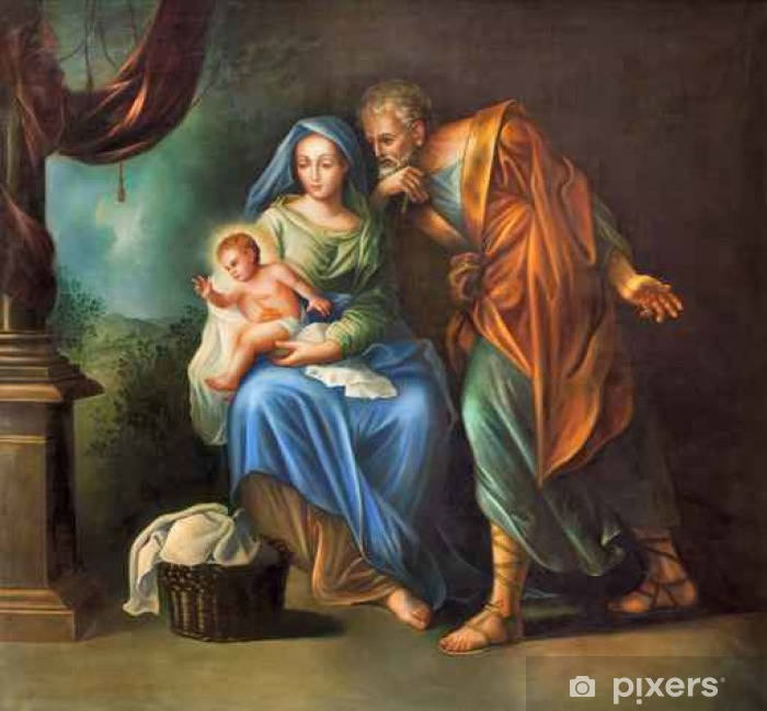 Cordoba - The Holy Family painting Vinyl Wall Mural - Buildings and Architecture